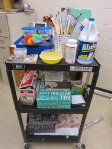 visual journal cart